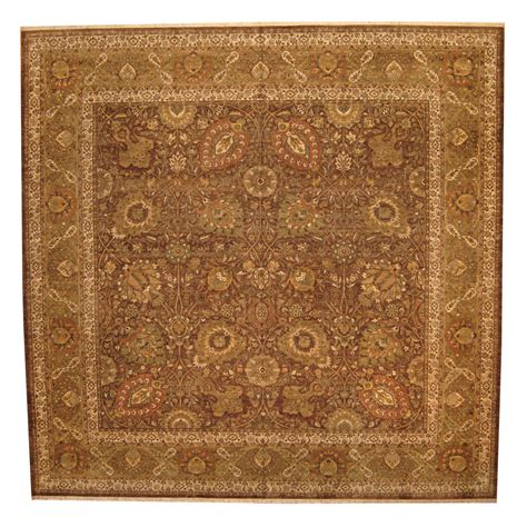 tabriz wool rug indo knotted vegetable dye tabriz wool rug 14 x 14 herat rugs