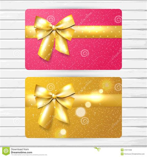 Gift Card Sleeve Template Girly by Two Bright Gift Cards Stock Vector Image 47217348