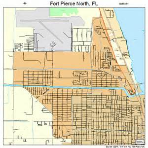 Fort Pierce Florida Map by Fort Pierce North Florida Street Map 1224337