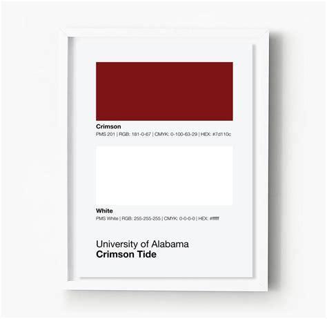 crimson tide colors alabama crimson tide colors print sproutjam