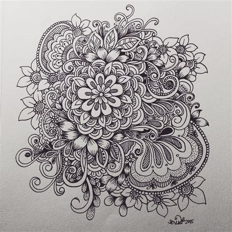 doodle flowers explosion doodle drawing 3 crafts and creations