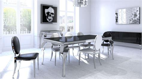 table salle a manger noir mise en ambiance inspirations