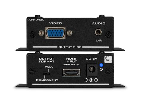 format audio tv hd hdmi to vga component and stereo audio format converter