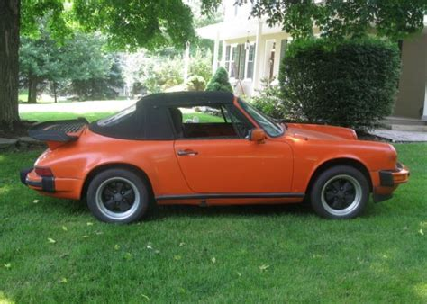 orange porsche 911 convertible porsche 911 convertible 1982 orange for sale