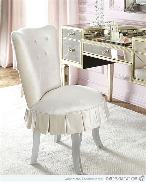 cute hickory vanity chair with skirt 15 skirted traditional vanity chairs home design lover