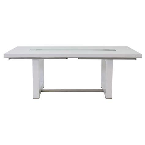 White Extendable Dining Table Novo White Extendable Dining Table El Dorado Furniture
