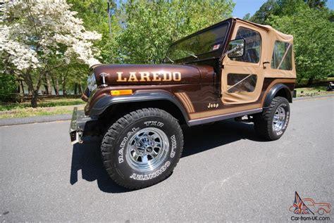 brown jeep cj7 1986 jeep cj7 laredo 9800 original miles auto w original a c