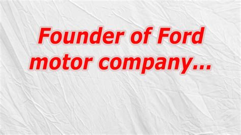 founder of ford founder of ford motor company codycross oozegames