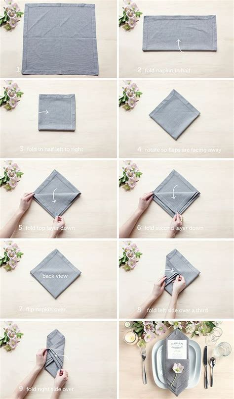 Paper Serviette Folding - best 25 wedding napkin folding ideas on