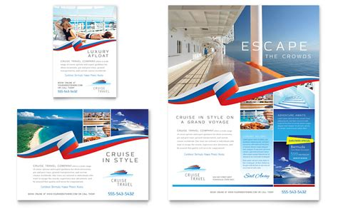 advertising brochure templates free cruise travel flyer ad template word publisher