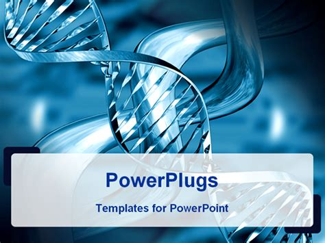 layout powerpoint dna powerpoint template medical theme representing silvery