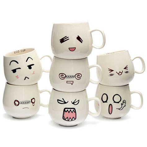 design mug lucu tazza di 300ml creativa con espressione carina in ceramica