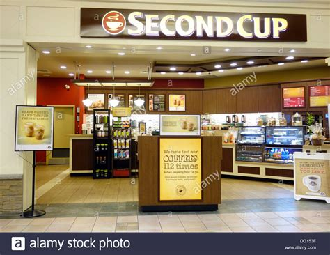 Cups Coffee Shop second cup chain coffee shop in toronto canada stock