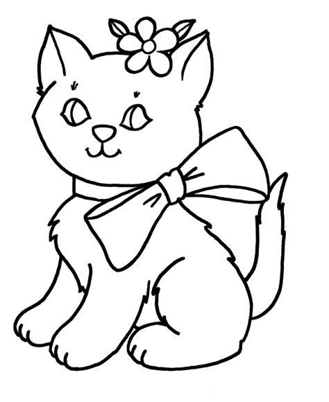 Cat Color Pages Coloring Home Coloring Pages Kittens