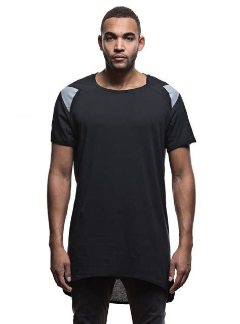 black pattern t shirts men s asymmetric long t shirt black pattern printed moon
