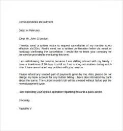 Email Template Service by Sle Notice Cancellation Letter 9 Free Documents In