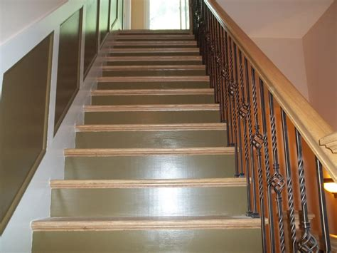 stair stringer risers trim and walls custom painted in catskill n y yelp