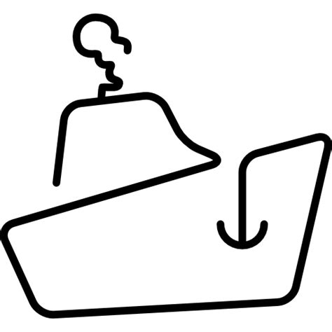 tow boat outline logistics boat transport outline free transport icons