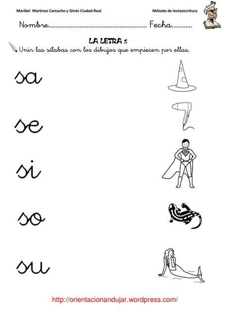 imagenes infantiles con la letra s m 233 todo de lectoescritura orientacionandujar letra s