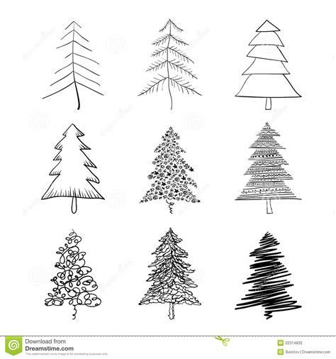 silueta de árbol de navidad silueta 225 rbol de navidad ilustraci 243 n vector ilustraci 243 n de enrollamiento colecci 243 n