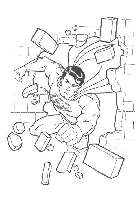 coloring book pages superman free printable superman coloring pages for kids