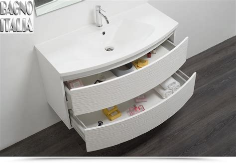 mobile bagno 100 cm mobile bagno curvet 100 cm 2 cassetti lavabo in ceramica
