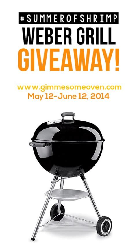 Grill Sweepstakes - shrimp sci skewers weber grill giveaway gimme some oven