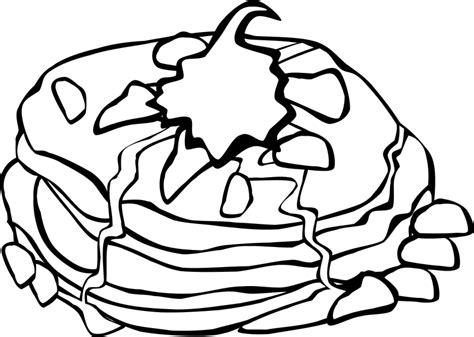 pancake coloring sheet food coloringsheets pancakes