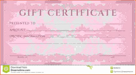 gift certificate voucher coupon template with guilloche