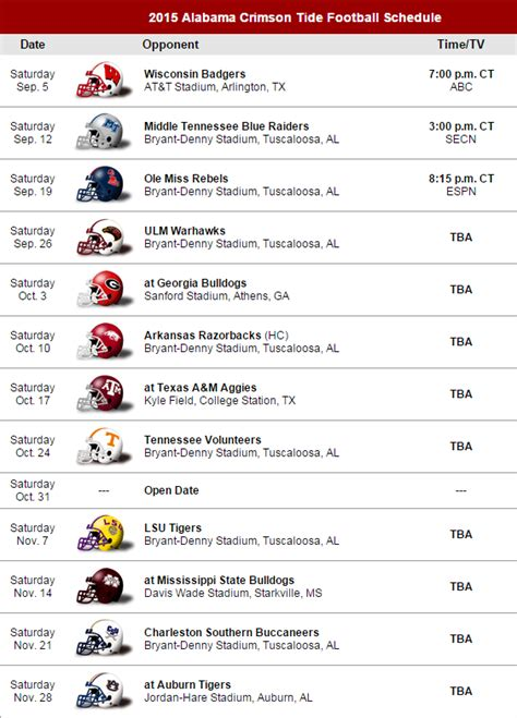 printable schedule for alabama football 2015 sec country on twitter quot 2015 alabama crimson tide