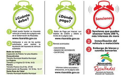 fecha para pago impuestos de vehiculos en el valle para el ao 2016 plazos para pagos de impuestos de vehiculos en risaralda