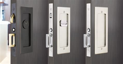 modern rectangular pocket door mortise lock emtek