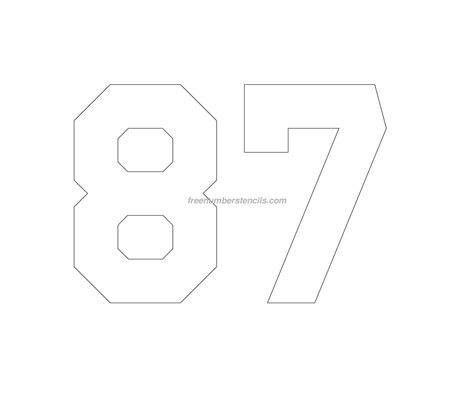 printable jersey numbers free jersey printable 87 number stencil