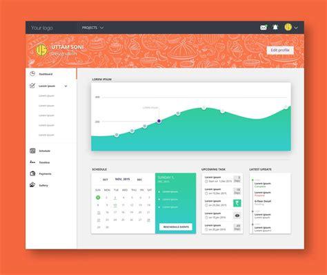 design inspiration psd free dashboard ui design psd css author