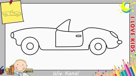 Auto Malen Lernen by Auto Zeichnen Schritt F 252 R Schritt F 252 R Anf 228 Nger Kinder