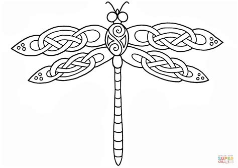 celtic coloring pages celtic dragonfly design coloring page free printable