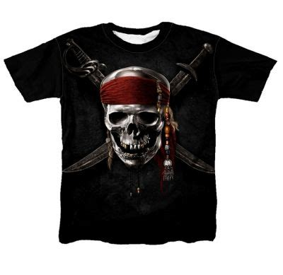 Kaos Printing 1 Kaos Tengkorak Bajak Laut Print 1 Kaos Premium