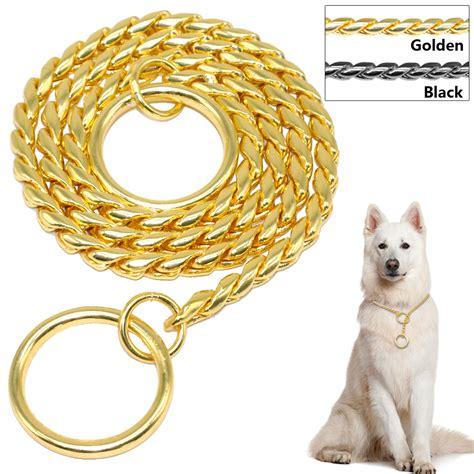 gold chain collar quality snake chain choke collars chrome gold black 3mm 4mm 5mm