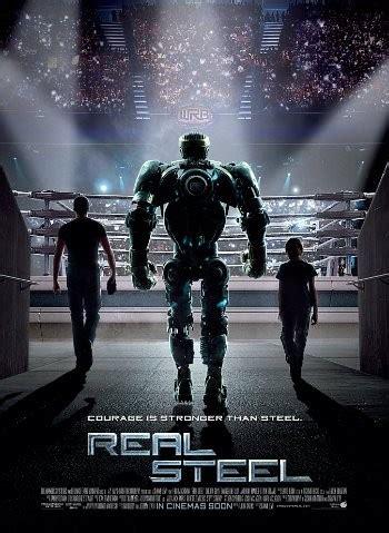 film robot petinju hugh jackman dan sang robot di poster terbaru real steel
