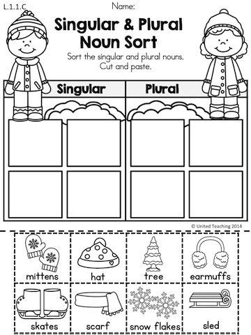 Nouns Worksheet Kindergarten by 17 Best Ideas About Singular And Plural On