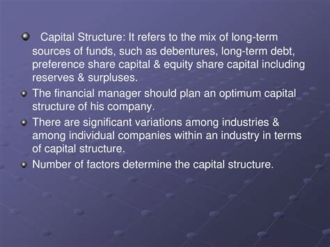 Mba Ppt On Capital Structure by Capital Structure Powerpoint Slides