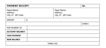 Receipt Of Payment Template by Simple And Professional Receipt Of Payment Form Template