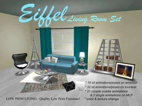 couch tower second life marketplace eiffel living room set living