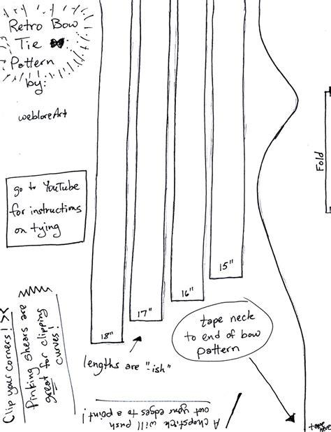 Sewing Pattern For Stock Tie | bow tie pattern by weblore on deviantart