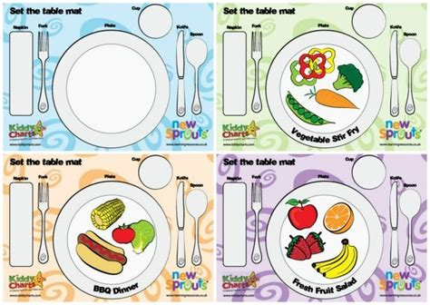 table setting chart how to teach kids how to set the table so you don t have to