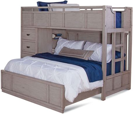 provo driftwood patina twin  full loft bed  american woodcrafters coleman furniture
