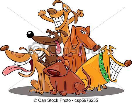 clipart divertenti divertente cani divertente gruppo cartone animato