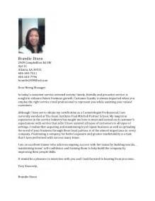 Cover Letter Exles For Hairstylist by Salon Cover Letter