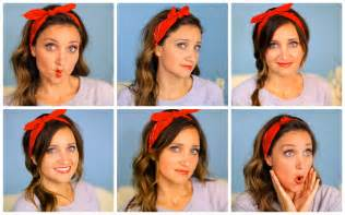 different ways to wear a bandana with hair six diy 1 minute bandana hairstyles cute girls hairstyles