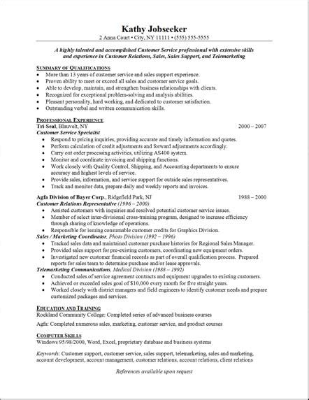free resume templates for customer service customer service free resumes